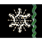 5' Enhanced Spiral Snowflake with standard or led bulbs