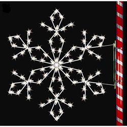 5' Silhouette Sierra Snowflake with standard or LED bulbs
