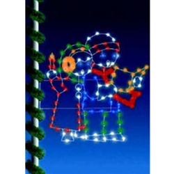 Silhouette pole mount Carolers 6' with LED Bulbs