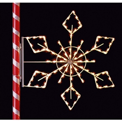 5 1/2' Silhouette Crystal Snowflake with standard or LED Bulbs