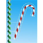 7' Silhouette Enhanced candy cane pole mount