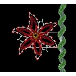 5' Holiday Pole Mount Poinsettia with standard or LED Bulbs