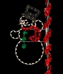 8' Enhanced Top Hat Snowman pole mount animated or non animated