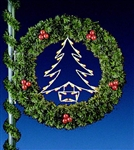 "54"" Tree Wreath pole mounted decoration"