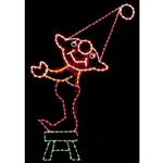 10' X 6' Silhouette Elf on Stool with C7 LED bulbs