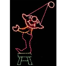 10' X 6' Silhouette Elf on Stool with C7 Standard or LED C7 bulbs