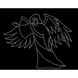 15' Silhouette angel with open arms ground mount display