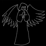 12' Pre-Lit Praying Angel Christmas Silhouette Display