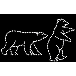 Lighted silhouette Bears 5' or 9'