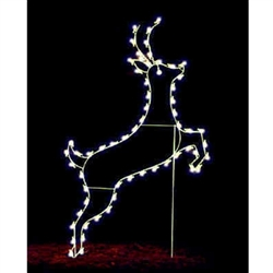 8' Leaping Buck with LED Bulbs
