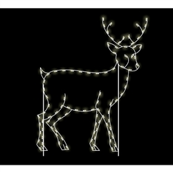 8' Silhouette Walking Buck with Lights