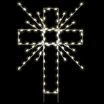 8' Silhouette Cross ground mount with LED Bulbs