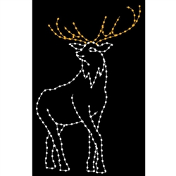 10' Silhouette Elk with LED Bulbs