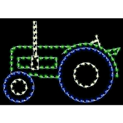 5' X 7' Silhouette farm tractor with LED Bulbs