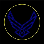 12' Ground Mount Air force insignia with C7 LED Bulbs