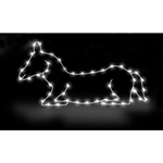 3 1/2' Silhouette Laying Donkey with standard or LED Bulbs