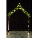 Arch with Garland and LED bulbs