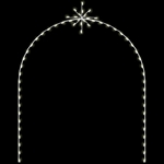 8' X 11' Silhouette Arch with Snoburst and standard or LED Bulbs