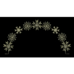 25' X 16 1/2' Deluxe snowflake arch with LED bulbs