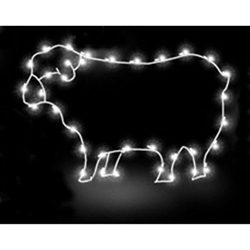 2-1/2' Light-Up Sheep Silhouette Ground Mounted Display