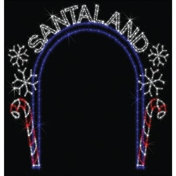 Santaland Arch with Lighting
