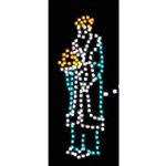 8' Standing Wiseman with LED bulbs