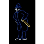 8' Silhouette Victorian Policeman with LED Bulbs