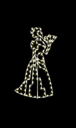 7.5' Silhouette Victorian Lady with C7 LED or Standard bulbs