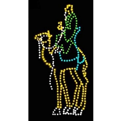 13' Silhouette Wiseman on Camel with LED bulbs
