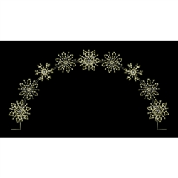 25' X 16 1/2' Winterfest Snowflake Arch with LED Bulbs