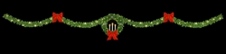 "Single Drape 50"" Candle wreath streetline with 6(6) 24"" Bows and lighting"