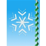 5' Pole mount forked snowflake with garland enhancements