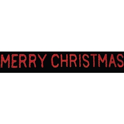"3' x 37' Giant Sparkling ""Merry Christmas"" Streetline Sign"