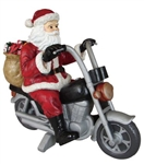 Fiberglass Giant Santa on a motorcycle