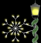 2' Pole mount Forked snowflake with LED bulbs