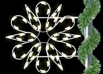 pole mount 2' Fantasy Spiral Snowflake with LED bulbs