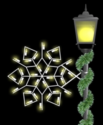 Pole mount 2' winterfest diamond snowflake with LED lighting