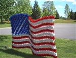 51/2' X 81/2' Sparkling Animated American Flag