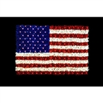 Ground Mount Sparkling American flag with 50 twinkling C7 Bulbs