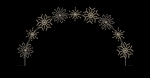 "25' X 16.5"" Deluxe Winterfest Diamond Snowflake ground Mount Arch"