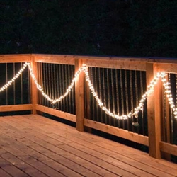9' Garland lights with 300 standard mini light bulbs