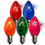 Glass Twinkle C7 Transparent bulb