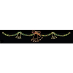 Garland Sky Line with Silhouette Holiday Bells 40'