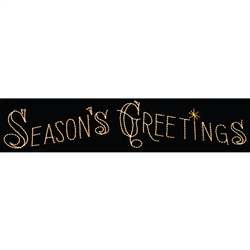 30' Silhouette Seasons Greetings Sign with LED