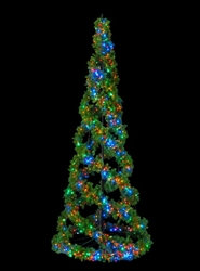 Giant Commercial Pop-Up Lighted Swirl Christmas Tree