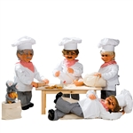 animated bakery with 4 bakers