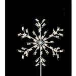 Silhouette Forked Snowflake Tree topper with C7 LED Bulbs