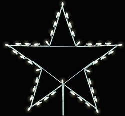 5 Point Star with LED Bulbs