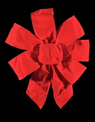 Red Velour Bow with wire for hanging