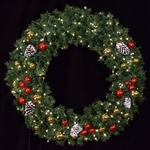 LED Lighted wall mount wreath